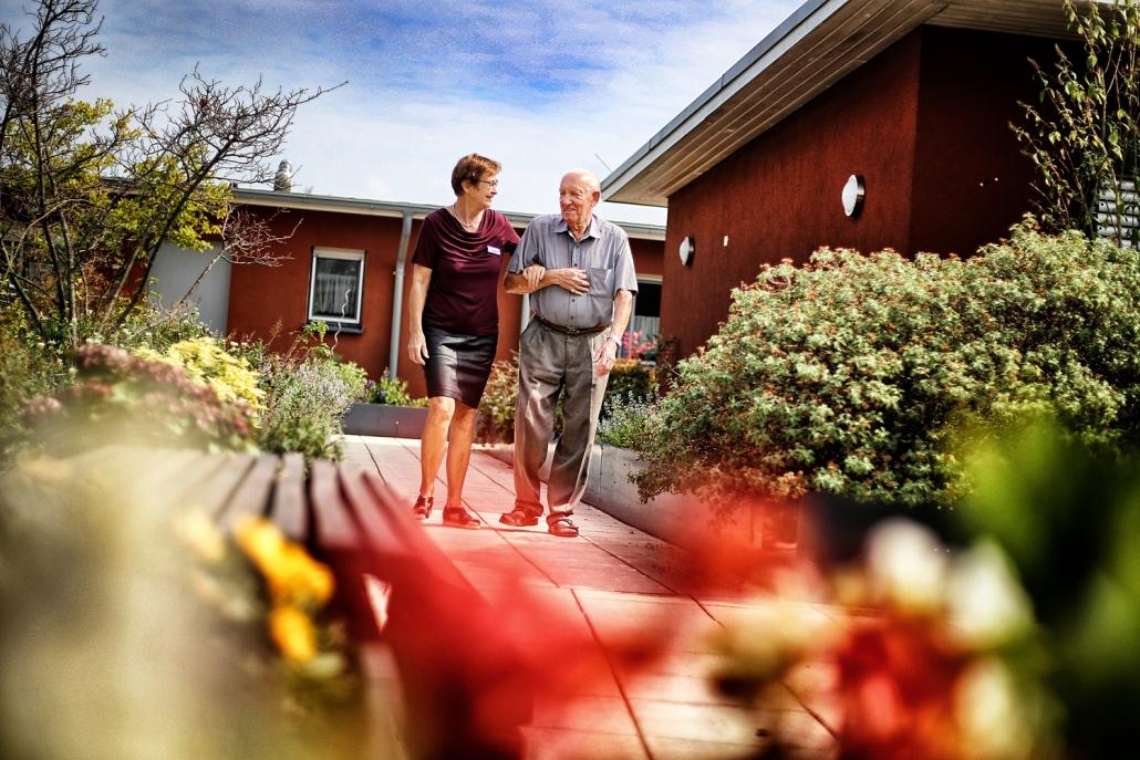 Terrassenbereich der Seniorenwohnungen in Hilden